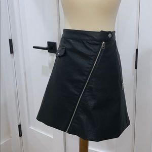 Black leather skirt from H&M